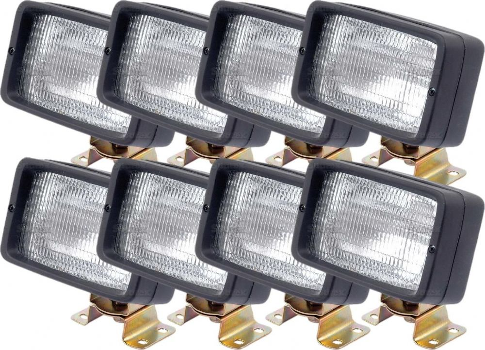 *Pack Of 8* Work Lamps H3 12V Oblong
